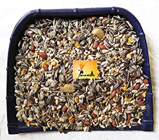 Parrots Wizard Big Parrot Food 31 Types of Seed Mix for African Gray; Macaw;Cockatoo;Indian Parrot;and Other Big Birds (45...