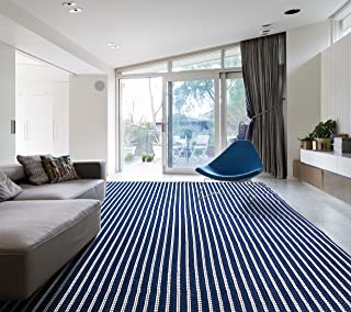 HOMEGNOME Indoor Outdoor Striped Rug 5'3