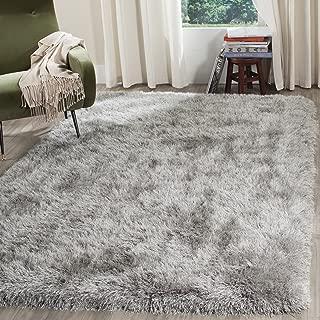 Safavieh Venice Shag Collection SG256S Handmade Silver Polyester Area Rug (5' x 8')