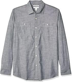 Men's Regular-fit Long-Sleeve Chambray Shirt