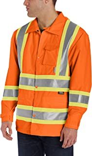 Work King Men's Hi-Vis Rain Jacket