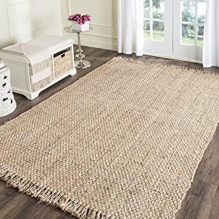 Safavieh Natural Fiber Collection NF467A Hand Woven Natural Jute Square Area Rug (6' Square)