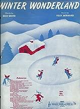 Winter Wonderland, Sheet Music