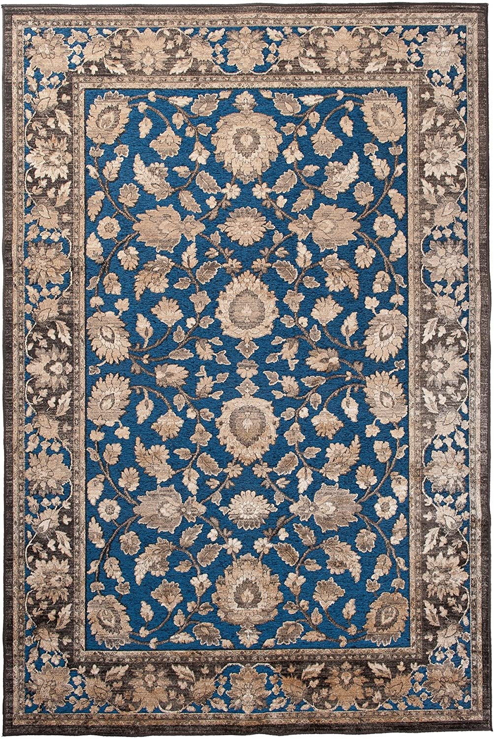 Carpeto Area Rug Oriental Traditional Turquoise Carpet 2'6'' x 4'9'' ft - 80 x 150 cm Hortense Collection