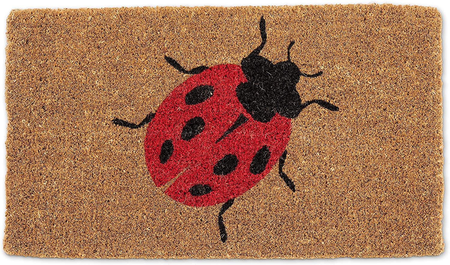 Abbott Collection 1235-FWD-BUG New color Red L New York Mall Doormat-18X30 Ladybug