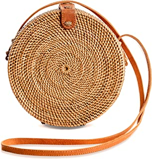 Rattan Bags for Women - Handmade Wicker Woven Purse...