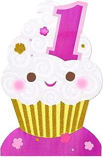 American Greetings 1st Birthday Card (Cupcake)