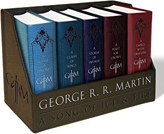 A Game of Thrones Leather-Cloth Boxed Set: A Game of Thrones, a Clash of Kings, a Storm of Swords, a Feast for Crows, and ...