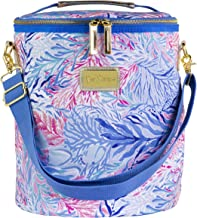 Lilly Pulitzer Insulated Soft Beach Cooler with Adjustable/Removable Strap and Double Zipper Close, Kaleidoscope Coral
