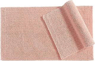 AmazonBasics Reversible Everyday Cotton Bath Rug, Set of 2, 17