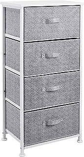 Amazon Basics Commode pour armoire - 4 tiroirs en tissu - blanc