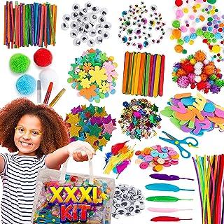 Blue Squid Fournitures d'art et d'artisanat pour enfants - 1500 pièces - Sac de rangement facile pour enfants - Fourniture...