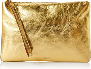 Oroton Women's Escape Medium Zip Pouch, Gold, One Size