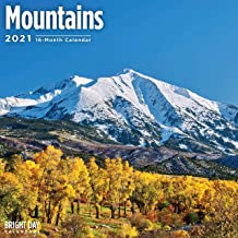 2021 Mountains Wall Calendar by Bright Day, 12 x 12 Inch, Landscape Scenic Beautiful