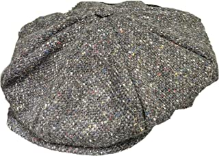 Hanna Hats Men's Donegal Tweed 8 Piece Cap Newsboy Cap