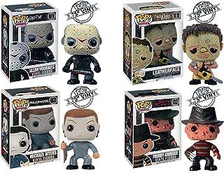 Funko Pop. Horror Movies–Vinyl Figures–Set of 4(Freddy, Jason, Michael Myers & Leatherface) by Funko