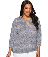 MICHAEL Michael Kors - Plus Size Zephyr Peasant Top