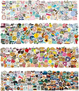 400 Mixed Sticker Packs (Inspirational Quotes, Aesthetic, Food, Read and Nature Park Type Stickers) Stickers for Laptop, Water Bottle, Skateboard, Suitcase, Pad Vinyl Waterproof Stickers