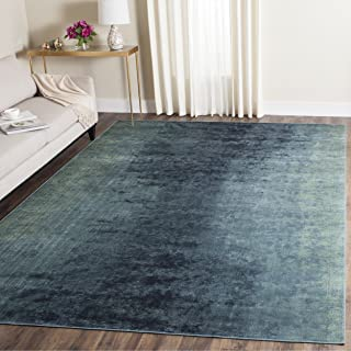 Safavieh Vintage Premium Collection VTG125-2220 Turquoise and Multi Distressed Silky Viscose Area Rug (8' x 11'2
