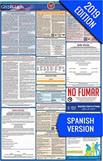 2019 Georgia (Spanish) Labor Law Poster – State, Federal, OSHA Compliant – Single Laminated Poster