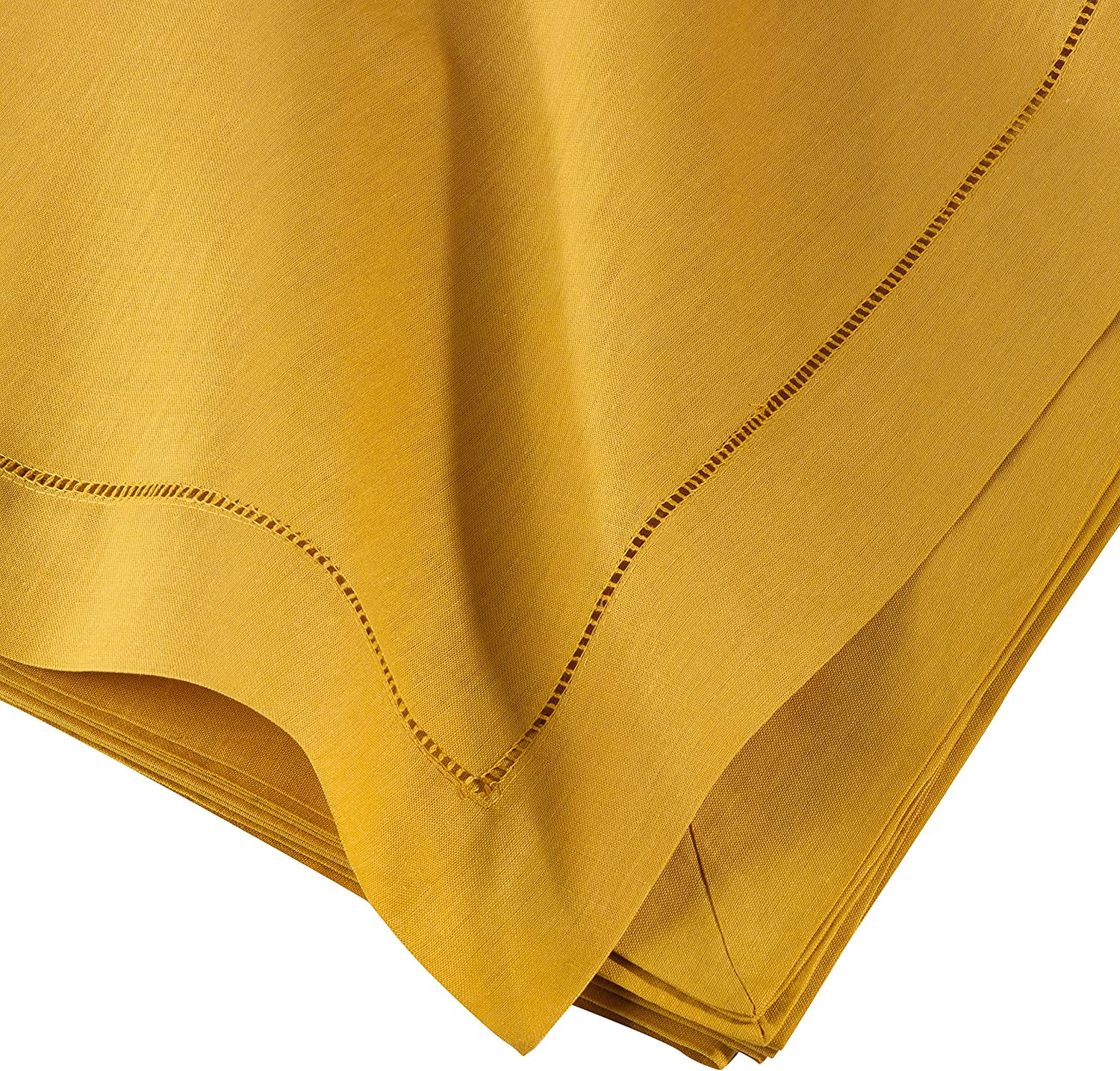 SARO LIFESTYLE 6100C Tablecloth Mustard 65 by104 Inch Oblong, SIL Per 1 Piece