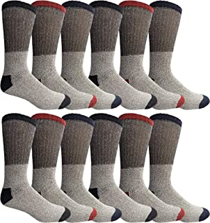 Thermal Boot Crew Tube And Non-Skid Socks, Unisex Bulk Cold Resistant Weather Socks