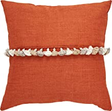 Rivet Contemporary Tassel Throw Pillow - 17 x 17 Inch, Terracotta