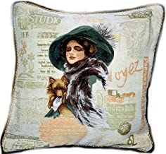 Tache 1 Pc Square Adorable Puppy's Day Out Cushion Throw Pillow Cover