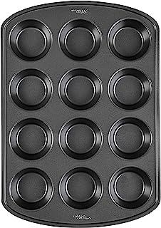Wilton Perfect Results Premium Non-Stick Bakeware Muffin Pan & Cupcake Pan, 12-Cup, Steel