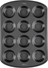 Wilton 2105-6789 Perfect Results Premium Non-Stick Bakeware Muffin and Cupcake Pan, 12-Cup, STANDARD, Silver