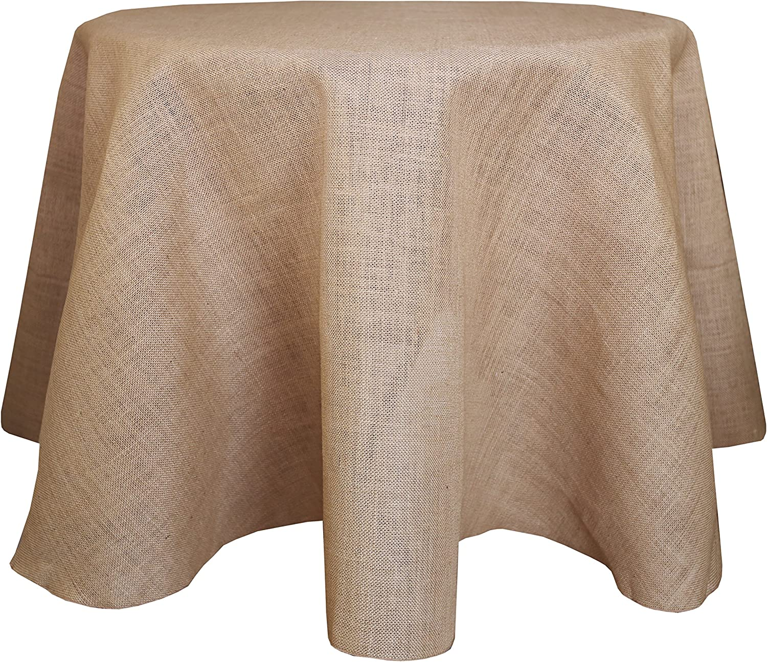 Ultimate Textile Burlap 132-Inch Round Cheap mail order shopping Jute Natural Tablecloth Max 85% OFF