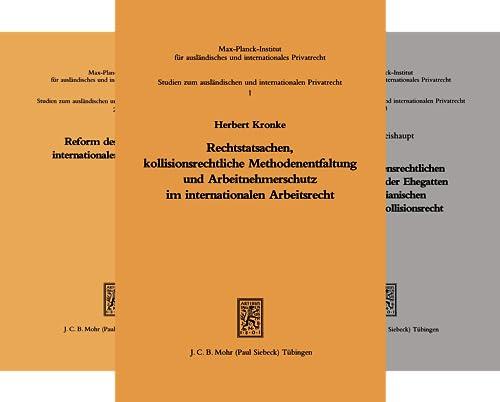 Studien zum ausländischen und internationalen Privatrecht (Reihe in 47 Bänden)