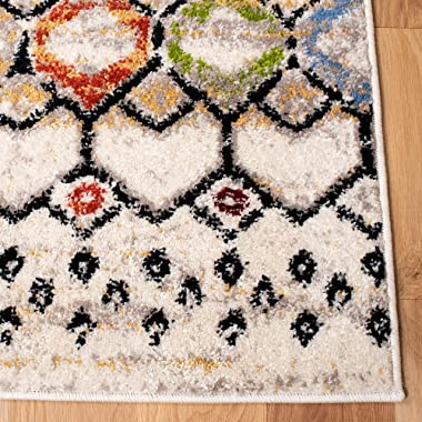 SAFAVIEH Amsterdam Collection AMS108K Moroccan Boho Non-Shedding Living Room Bedroom Dining Home Office Area Rug, 8' x 10
