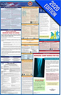 2020 Florida Labor Law Poster – State, Federal, OSHA Compliant – Single Laminated Poster