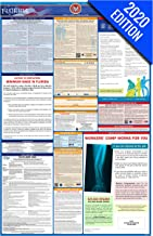 2019 Florida Labor Law Poster - State, Federal, OSHA Compliant - Single Laminated Poster