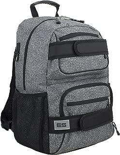 Eastsport Double Strap Skater Multipurpose Backpack, Gray/Static Dots