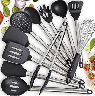 Home Hero 11 Silicone Cooking Utensils Kitchen Utensil Set – Stainless Steel..