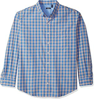 cc8a0a4640fbd Izod Mens Breeze Plaid Long Sleeve Shirt (Big   Tall) Button-Down Shirt