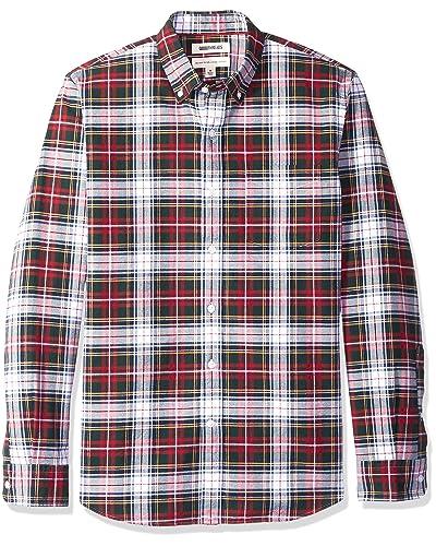 3461eeea9e Red and White Plaid Shirt: Amazon.com