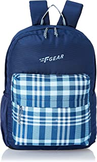 F Gear Emprise Checks Navy Blue 23 Ltrs Casual Backpack (3360)