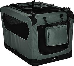 AmazonBasics Premium Folding Portable Dog Crate