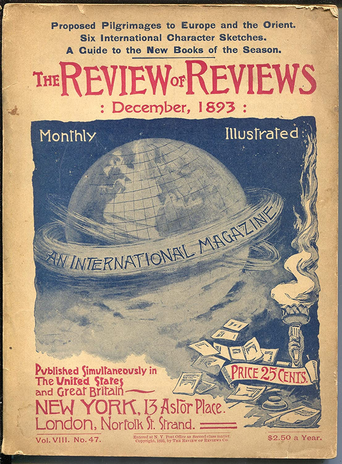 Review of Reviews 12 form edition-Albert Shaw-pulp 1893-American low-pricing 25% OFF