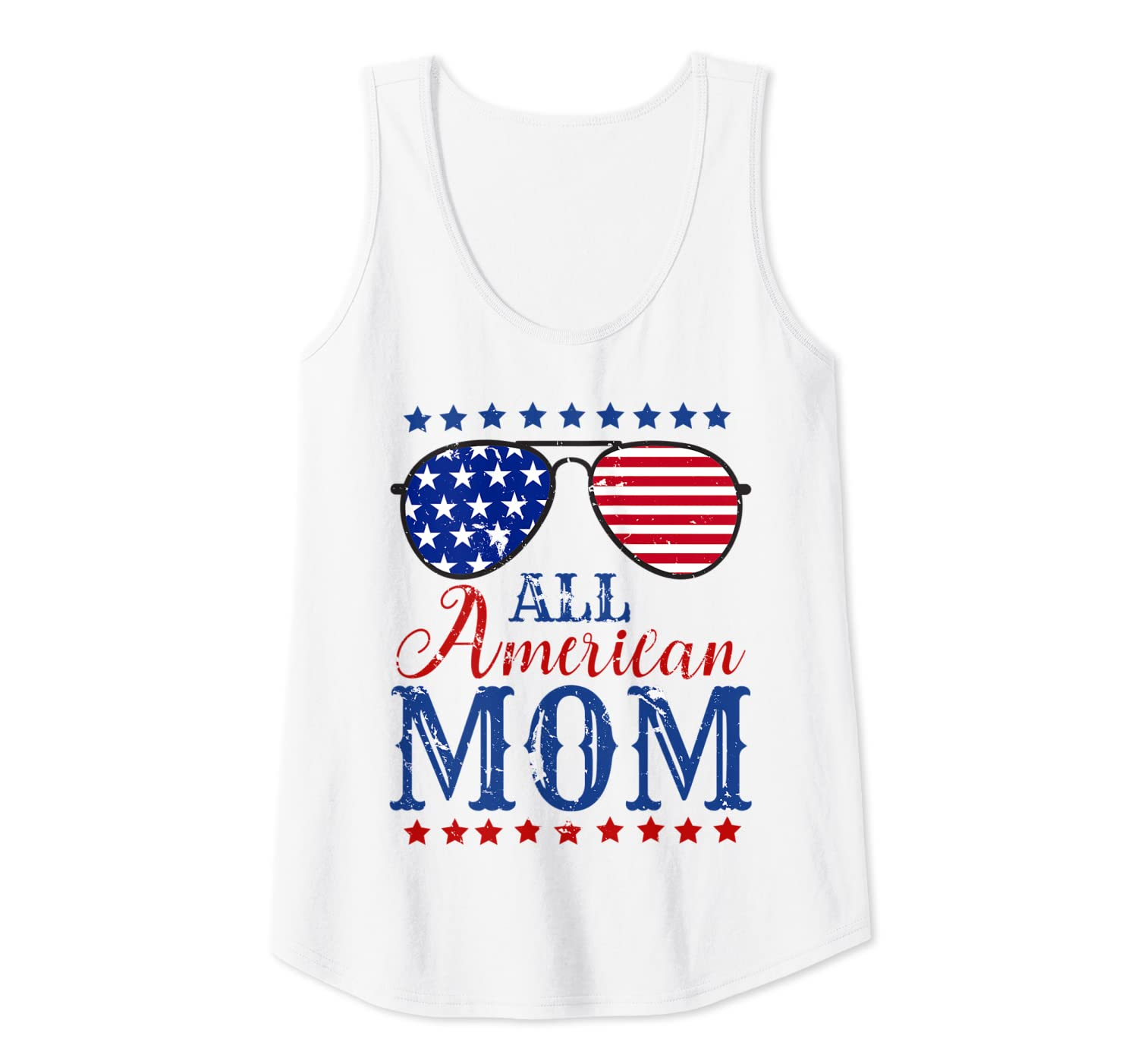 All American Mom 4th Of July Sunglasses Matching Family Tank Top Shirts