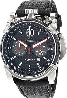 CT Scuderia Men's CS10131 Fibra Di Carbonio Analog Display Swiss Quartz Black Watch