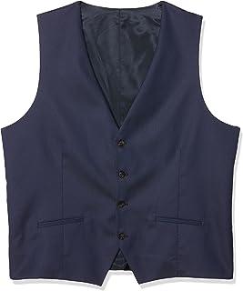 Selected Men's Shdone-Maze Dk. Blue Struct. Waistcoat