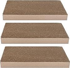 Navaris Griffoir pour Chats - Set 3X grattoir pour Chat en Carton ondulé 43 x 24 x 4 cm - Protection XXL canapé Meuble Mur - pour Chaton Chien