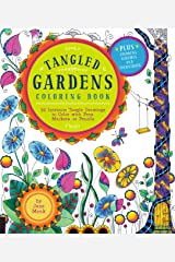 Tangled Gardens Coloring Book: 52 Intricate Tangle Drawings to Color with Pens, Markers, or Pencils (Tangled Color and Draw) Paperback