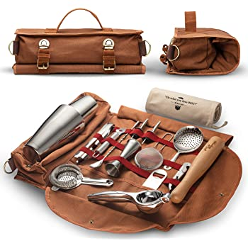 Muddler//Mallet and Recipe Card Lewis Bag 12oz Cups 2 Mint Julep Cocktail Essential Tool Kit - 5 items