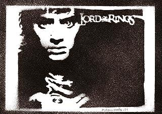 Poster Frodo Bolsón El Señor de los Anillos Grafiti Hecho a Mano The Lord of the Rings Handmade Street Art - Artwork