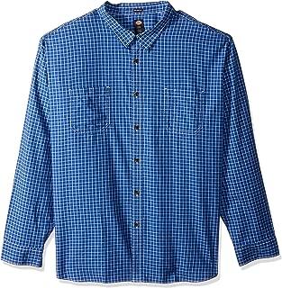 Dickies Mens WL526 Big Long Sleeve Relaxed Yarn Dye Plaid Shirt Big Long Sleeve Button Down Shirt - Multi - 3X